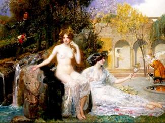 A fonte da juventude. Óleo sobre tela do pintor austríaco Eduard Veith