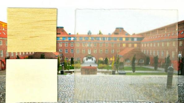 Instituto Real de Tecnologia KTH da Suécia/Divulgação visto através da madeira transparente.